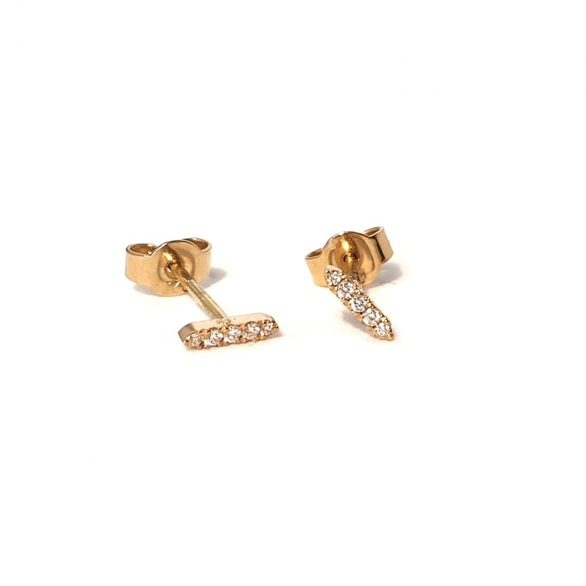 Boucles d'oreilles or et 5 diamants
